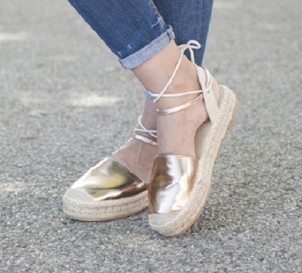 Dámskej obuvi espadrilky